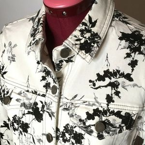 Liverpool Jeans Company Jacket S Floral Stretch
